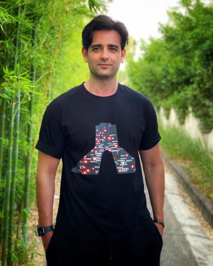 عکس | تصویر خاص و معنادار روی تیشرت امیرحسین آرمان - همشهری آنلاین