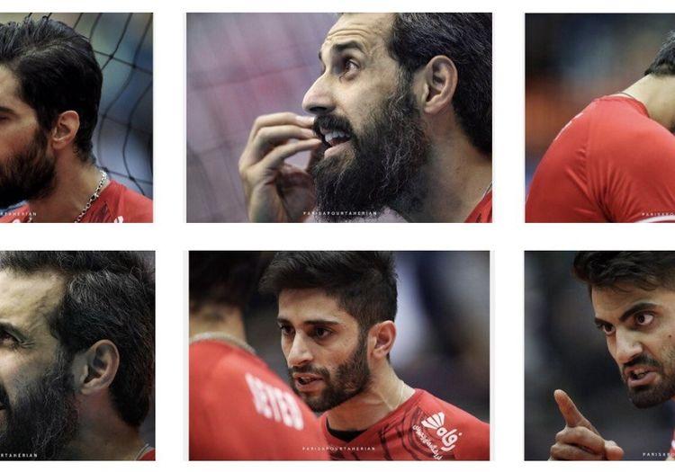 حالت صورتهای بازیکنان تیم ملی والیبال وسط دعوا