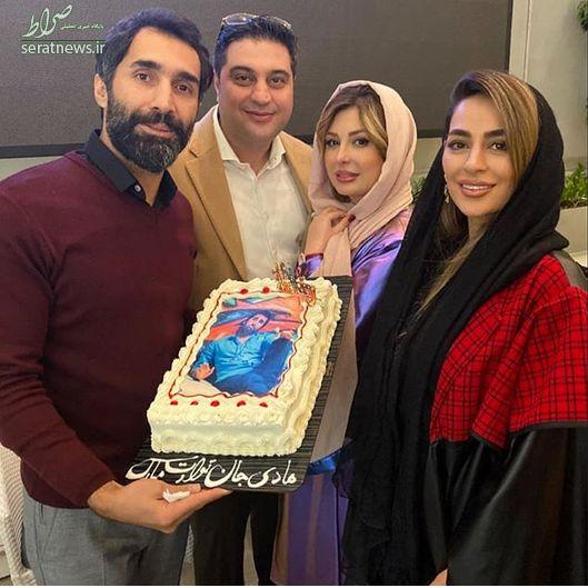 عکس/ نیوشا ضیغمی و همسرش در تولد هادی کاظمی