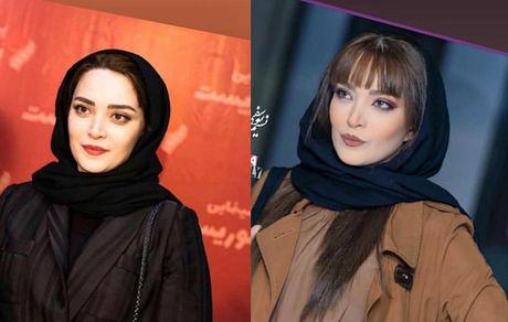 تفاوت پوشش بهنوش طباطبایی در اکران مشهد و تهران + عکس