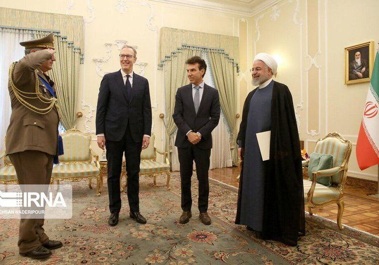 تقدیم استوارنامه«جوزپه پررونه»سفیر جدید کشور ایتالیا به رئیس جمهور