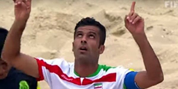 پیروزی ملیپوشان فوتبال ساحلی ایران برابر اوکراین