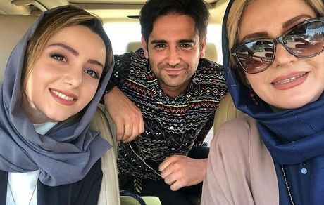 سلفی امیرحسین آرمان با خانمهای بازیگر فیلم مانکن + عکس