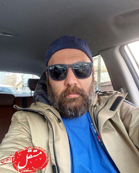 علی اوجی در ماشین شیکش + عکس