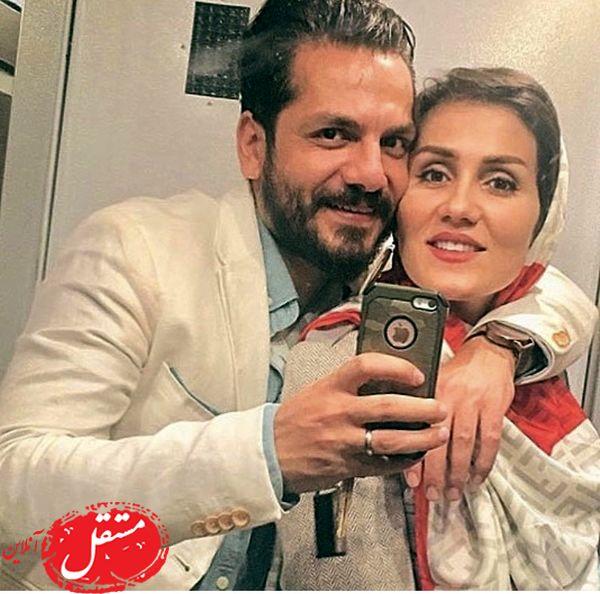 عاشقانه های عباس غزالی و همسرش + عکس