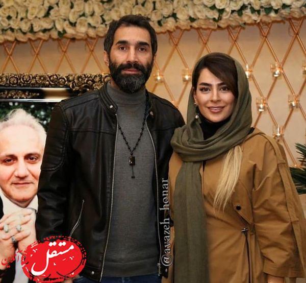 سمانه پاکدل و هادی کاظمی در یک مراسم + عکس