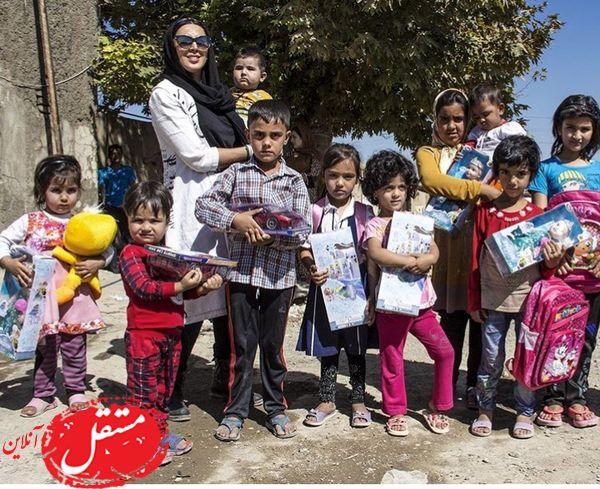 لیلا بلوکات در جمع کودکان محروم + عکس