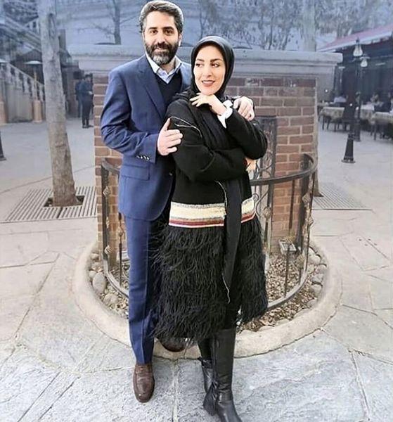 ژیلا صادقی و همسرش + عکس