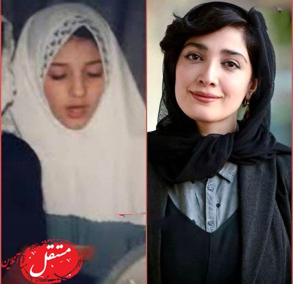 مینا ساداتی در کودکی + عکس
