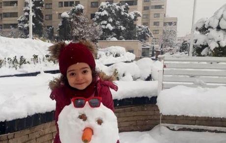 برف بازی دختر بانمک آزاده نامداری + عکس