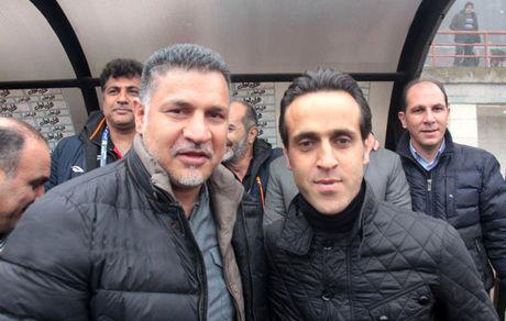 آشتی علی دایی و علی کریمی بعد از سالها بر سر مزار مهرداد میناوند + عکس