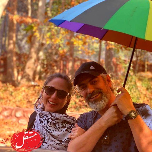 عاشقانه های دیده نشده مهدی پاکدل و همسر دومش + تصاویر و فیلم