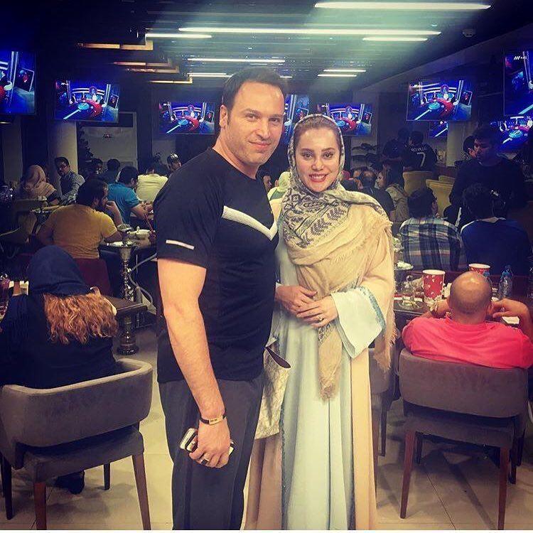آرام جعفری و همسرش در خانه فوتبال (عکس)