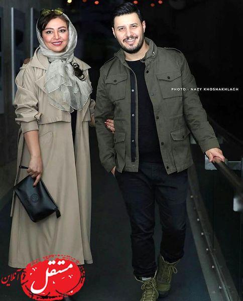 ست خاص جواد عزتی و همسرش در یک مراسن + عکس