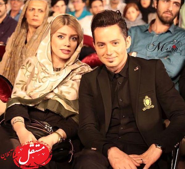 شهنام شهابی و همسرش در مراسم + عکس