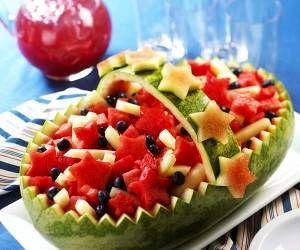 آموزش تصویری تزیین میوه و هندوانه شب یلدا + عکس