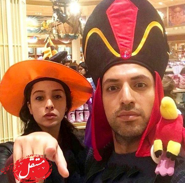 جشن هالووین زوج مشهور سینما + عکس