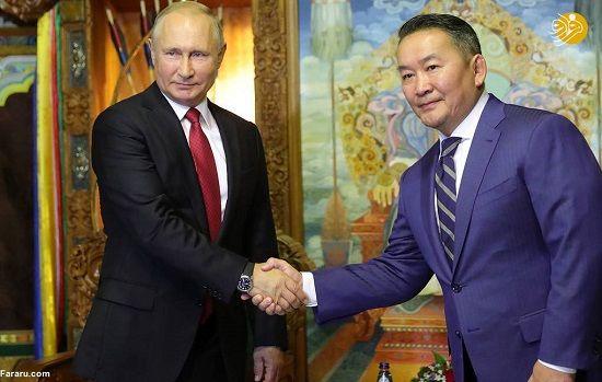 چنگیزخان مغول در جلسه پوتین + عکس