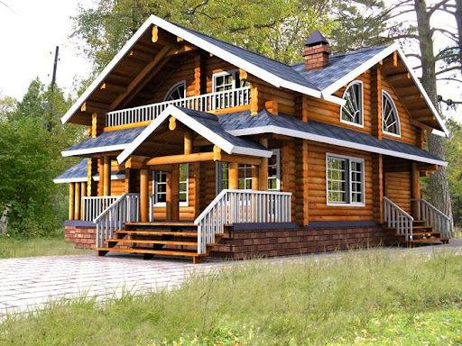 خانه های چوبی اینگونه ساخته می شوند + فیلم