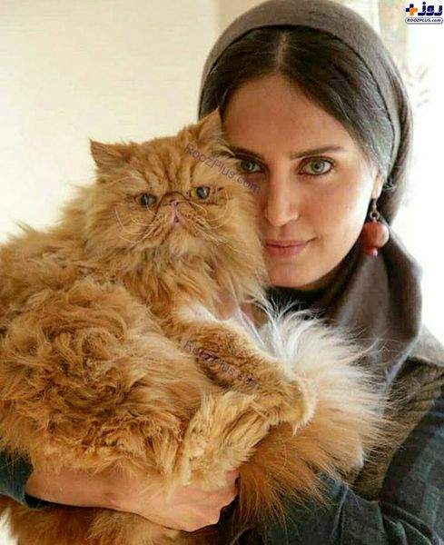 عکس جالب الناز شاکردوست و گربه اش + عکس