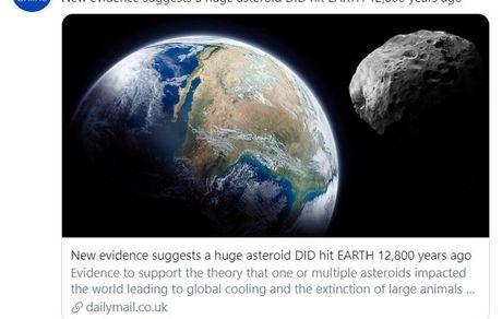برخورد یک شهاب سنگ عظیم با زمین