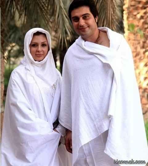نیوشا ضیغمی و همسرش در حج