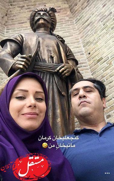 صبا راد در کنار مجسمه معروف + عکس