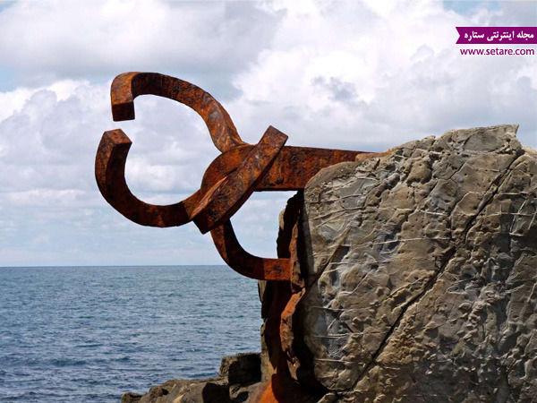 شانه باد، اسپانیا، سن سباستین، مجسمه فولادی