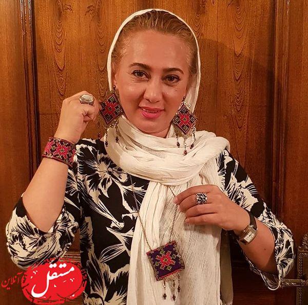 گردنبد و گوشواره متفاوت عجیب خانم بازیگر + عکس