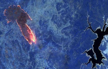 تصویری از جهنم استرالیا از لنز ناسا