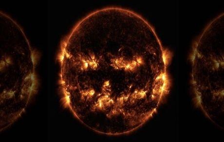 تصویری ترسناک از خورشید