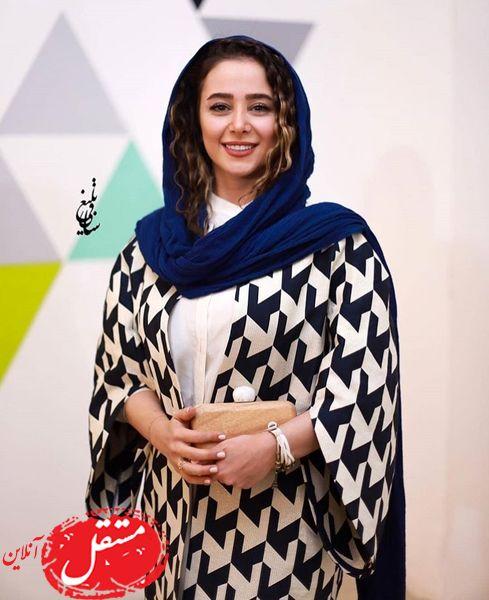 مانتوی خاص الناز حبیبی در مراسم + عکس
