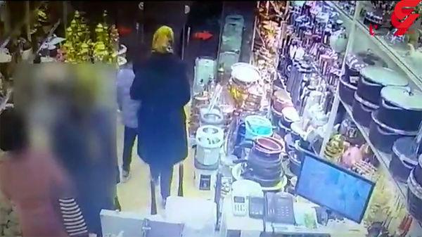 سرقت خانوادگی از فروشگاه لوازم خانگی + فیلم