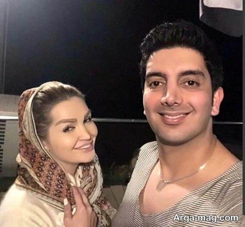 Image result for فرزاد فرزین و همسرش
