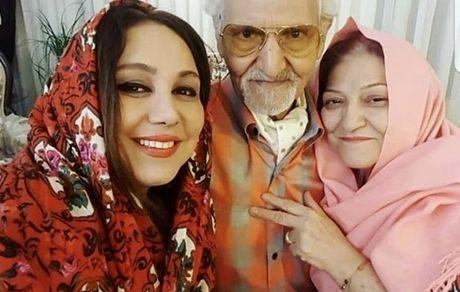 بهنوش بختیاری در آغوش پدر و مادرش + عکس
