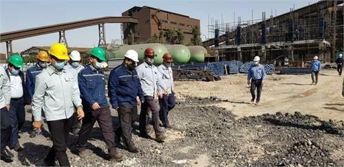 بازدید مدیرعامل و هیات همراه از بخشهای مختلف شرکت فولاد خوزستان