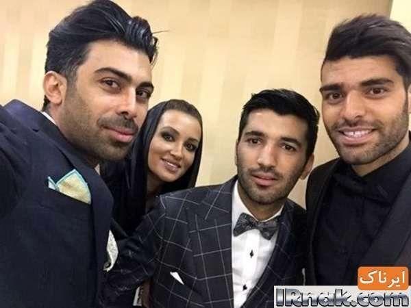 مهدی طارمی و روناک یونسی و همسرش محسن میری در عروسی محسن مسلمان