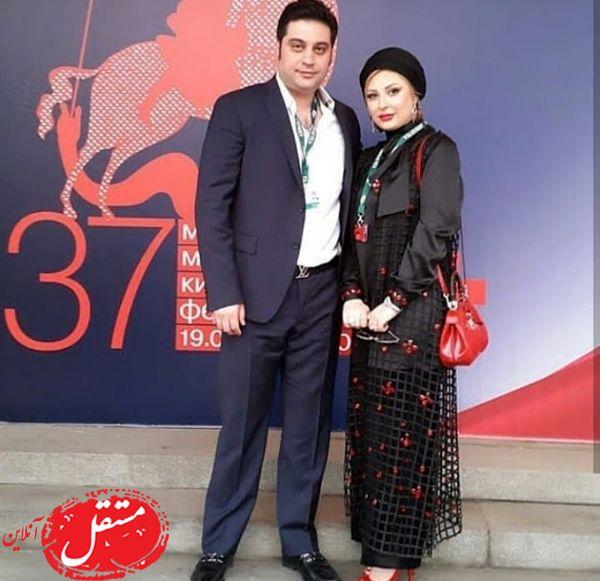 نیوشا ضیغمی و همسرش با استایل رسمی + عکس