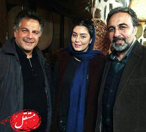 سحر قریشی در کنار رضا عطاران + عکس