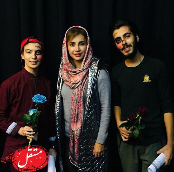 شبنم قلی خانی در کنار بازیگران تئانری + عکس