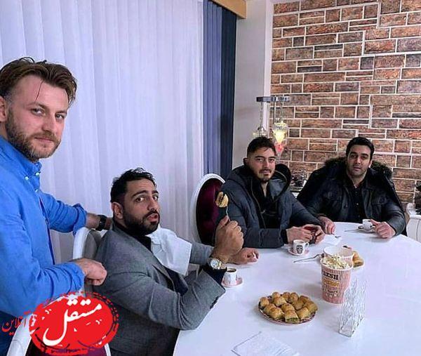 ضیافت شام نیما شاهرخ شاهی و آقایون بازیگر + عکس
