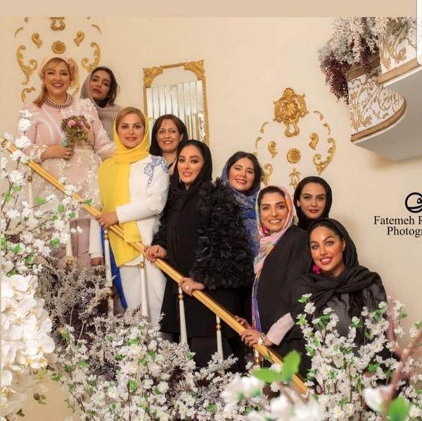 بهاره رهنما عروس کنار دوستای بازیگرش + عکس