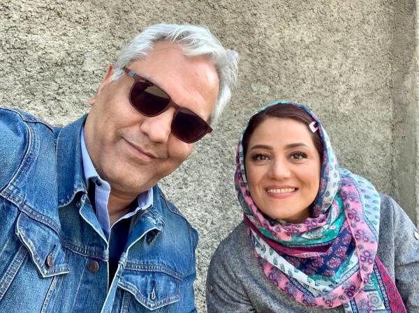سلفی مهران مدیری و شبنم مقدم
