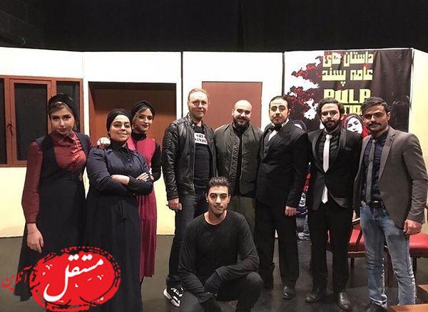 کیهان ملکی در جمع دوستان تئاتریش + عکس