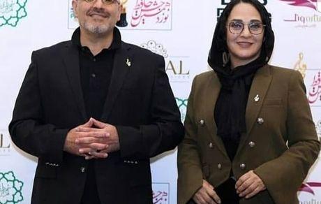 تیپ خفن رویا نونهالی و همسرش در جشن حافظ+ عکس