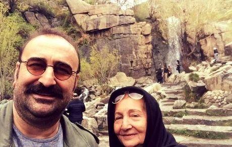 آقای بازیگر سریال پایتخت در کنار مادرش +عکس