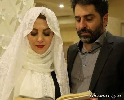 ژیلا صادقی و همسرش