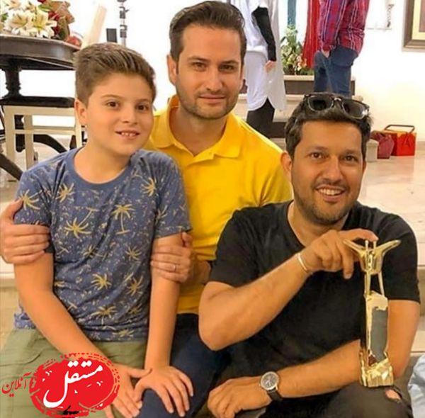 حامد بهداد در کنار پویا امینی و پسرش + عکس