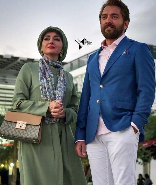 عکس دونفره بهرام رادان و هانیه توسلی + عکس