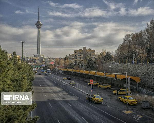 خلوت ترین حالت تهران+عکس